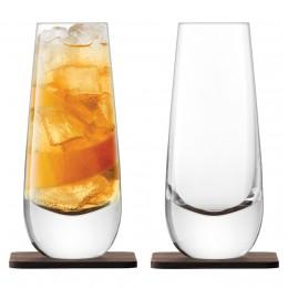 Набор из 2 бокалов на подставке из ореха LSA International Whisky Islay 325 мл