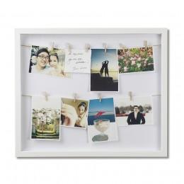 Рамка с зажимами для фото Clothesline белая