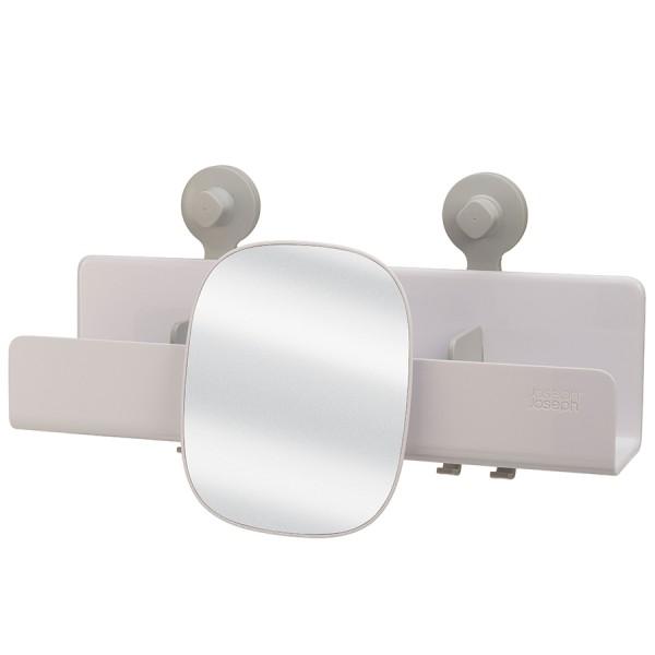 Органайзер для душа с зеркалом EasyStore большой белый