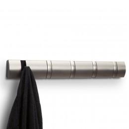 Настенная горизонтальная вешалка Flip 5 никель