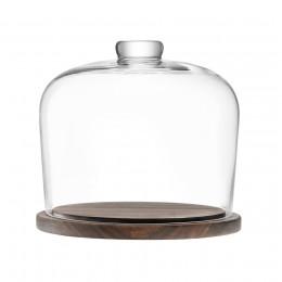 Блюдо со стеклянным куполом LSA City D22 см