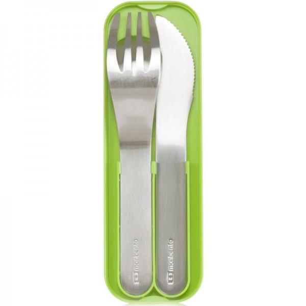 Набор из 3 столовых приборов в футляре MB Pocket зеленый