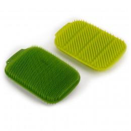 Набор из 2 малых щеток для мытья посуды CleanTech зеленый