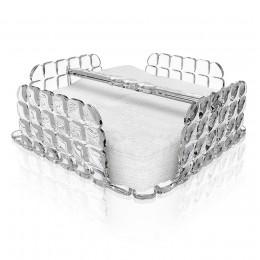 Салфетница квадратная Tiffany прозрачная