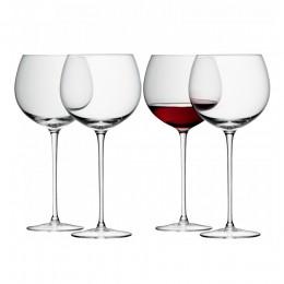 Набор из 4 круглых бокалов для вина LSA Wine 570 мл