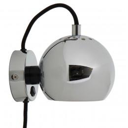 Лампа настенная Ball D12 см хром, глянцевая