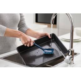Щетка для мытья посуды CleanTech с запасной насадкой синяя
