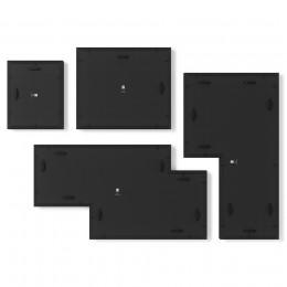 Набор из 4 фоторамок Mingle Gallery черный