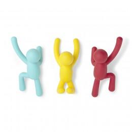 Вешалки-крючки Buddy 3 шт. разноцветные