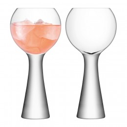Набор из 2 бокалов для вина LSA Moya 550 мл прозрачный