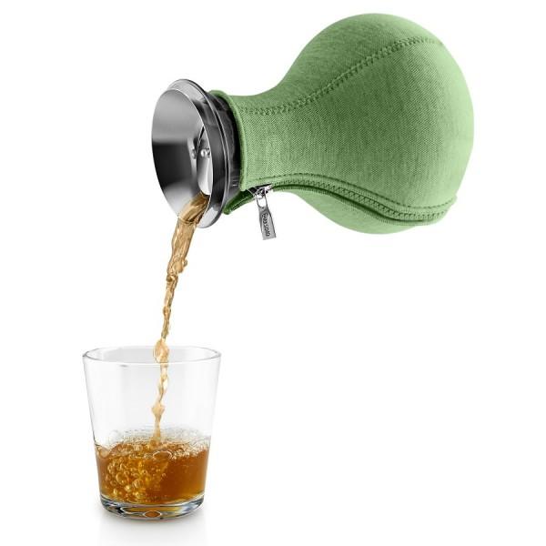 Чайник заварочный Tea Maker в неопреновом чехле 1 л светло-зелёный