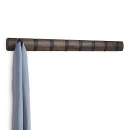 Настенная вешалка Flip 8 черная/орех