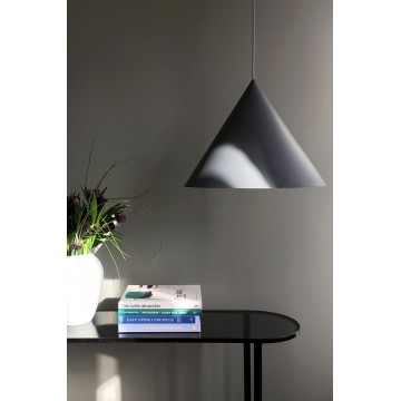 Лампа подвесная Benjamin XL серая матовая, серый шнур