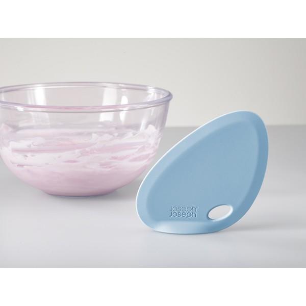 Скребок для миски FIN силиконовый голубой