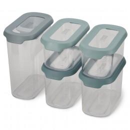 Набор из 5 контейнеров для хранения CupboardStore опал
