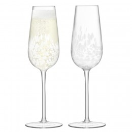 Набор из 2 бокалов-флейт для шампанского LSA Stipple 250 мл