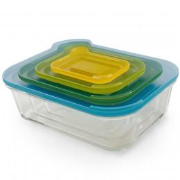 Набор из 4 контейнеров Nest™ стеклянный