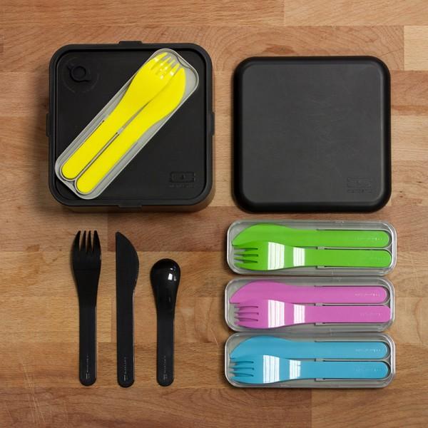 Набор из 3 столовых приборов в футляре MB Pocket Color черный