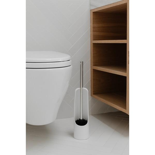 Ёршик туалетный Touch белый