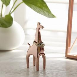Подставка для колец Anigram Жираф медь