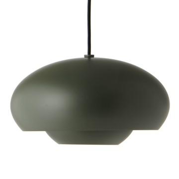 Лампа подвесная Champ D30 см, зеленая матовая