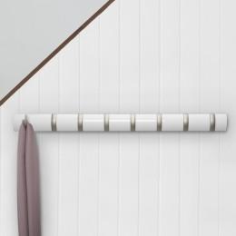 Настенная вешалка Flip 8 белая
