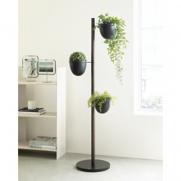 Подставка для цветов Floristand Planter с горшками 3 шт, темный орех