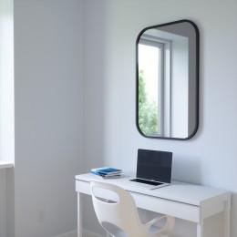 Зеркало прямоугольное Hub 61 х 91 см черное