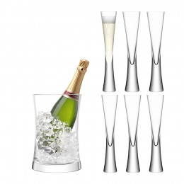 Набор для сервировки шампанского LSA International Moya прозрачный