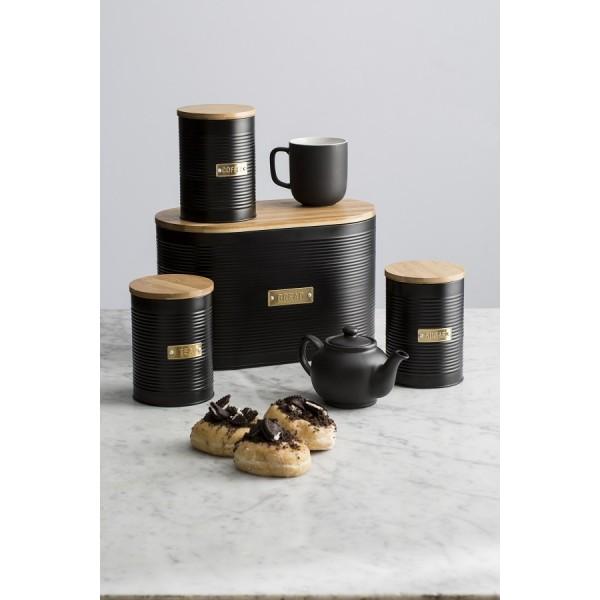 Емкость для хранения чая Otto черная 1,4 л