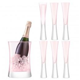 Набор для сервировки шампанского LSA International Moya малый, розовый