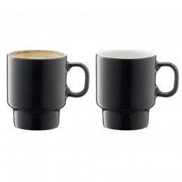 Набор из 2 чашек для эспрессо LSA Utility 70 мл серый