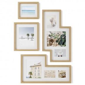 Набор из 4 фоторамок Mingle Gallery дерево