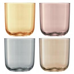 Набор из 4 стаканов LSA Polka 420 мл металлик