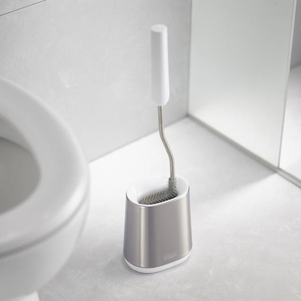 Ёршик для унитаза Flex Lite нержавеющая сталь, белый