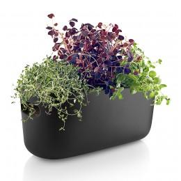 Кашпо для растений с функцией самополива черное