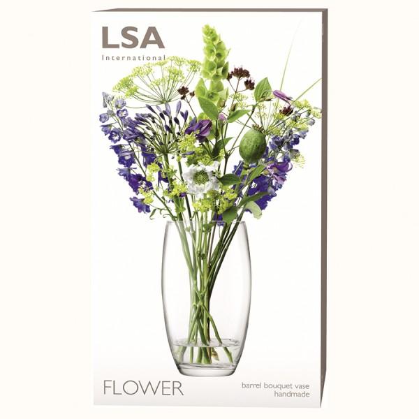 Ваза в форме бочонка LSA Flower 20 см