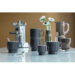 Набор из 2 чашек для флэт-уайт кофе LSA Utility 280 мл серый