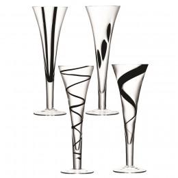 Набор из 4 бокалов-флейт Jazz 250 мл