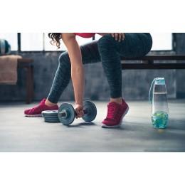 Бутылка для фруктовой воды H2O голубая