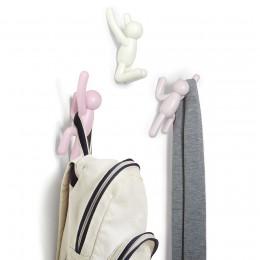Вешалки-крючки Buddy 3 шт. разноцветные розовые