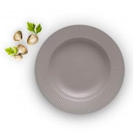 Тарелка суповая Legio Nova D25 см серая