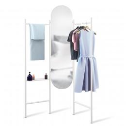 Зеркало напольное с вешалками Vala белое