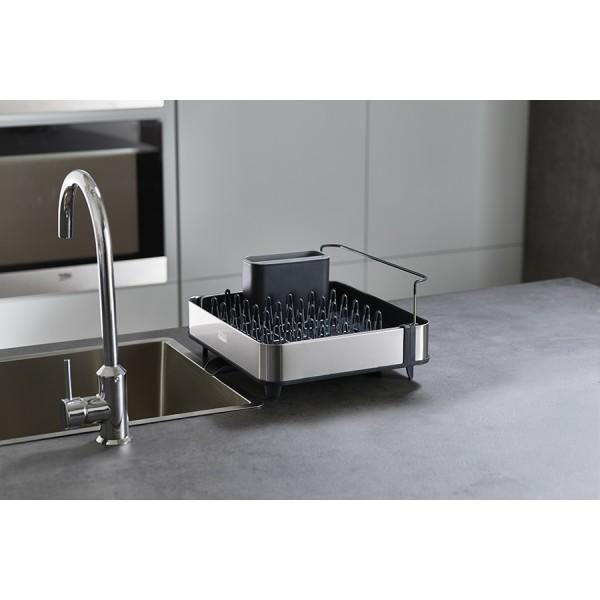 Набор из сушилки для посуды раздвижной Extend Steel и диспенсера для мыла Presto Steel