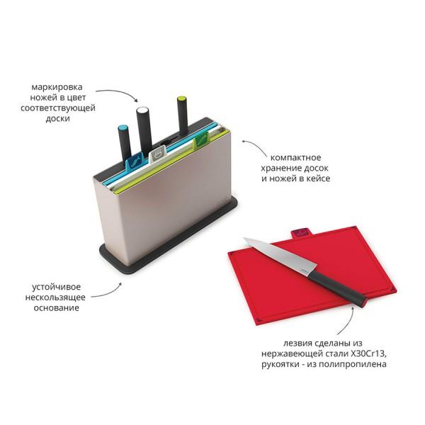 Комплект разделочных досок Index™ с ножами серебристый