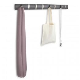 Настенная вешалка Flip 8 крючков дерево/никель