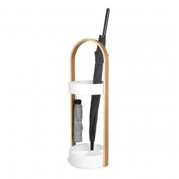 Подставка для зонтов HUB белый/дерево