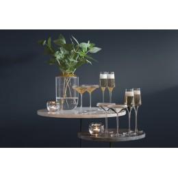 Набор из 2 бокалов-креманок для шампанского Space 240 мл золото