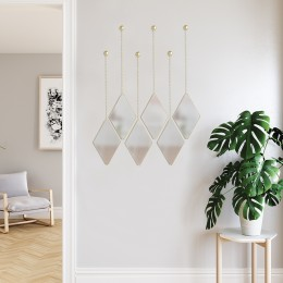 Набор из 3 подвесных зеркал Dima матовая латунь