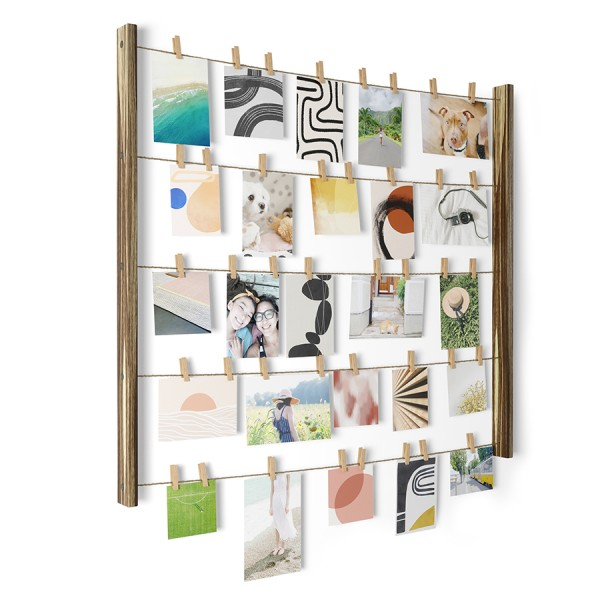 Панно с зажимами для 40 фотографий Hangit натуральное дерево